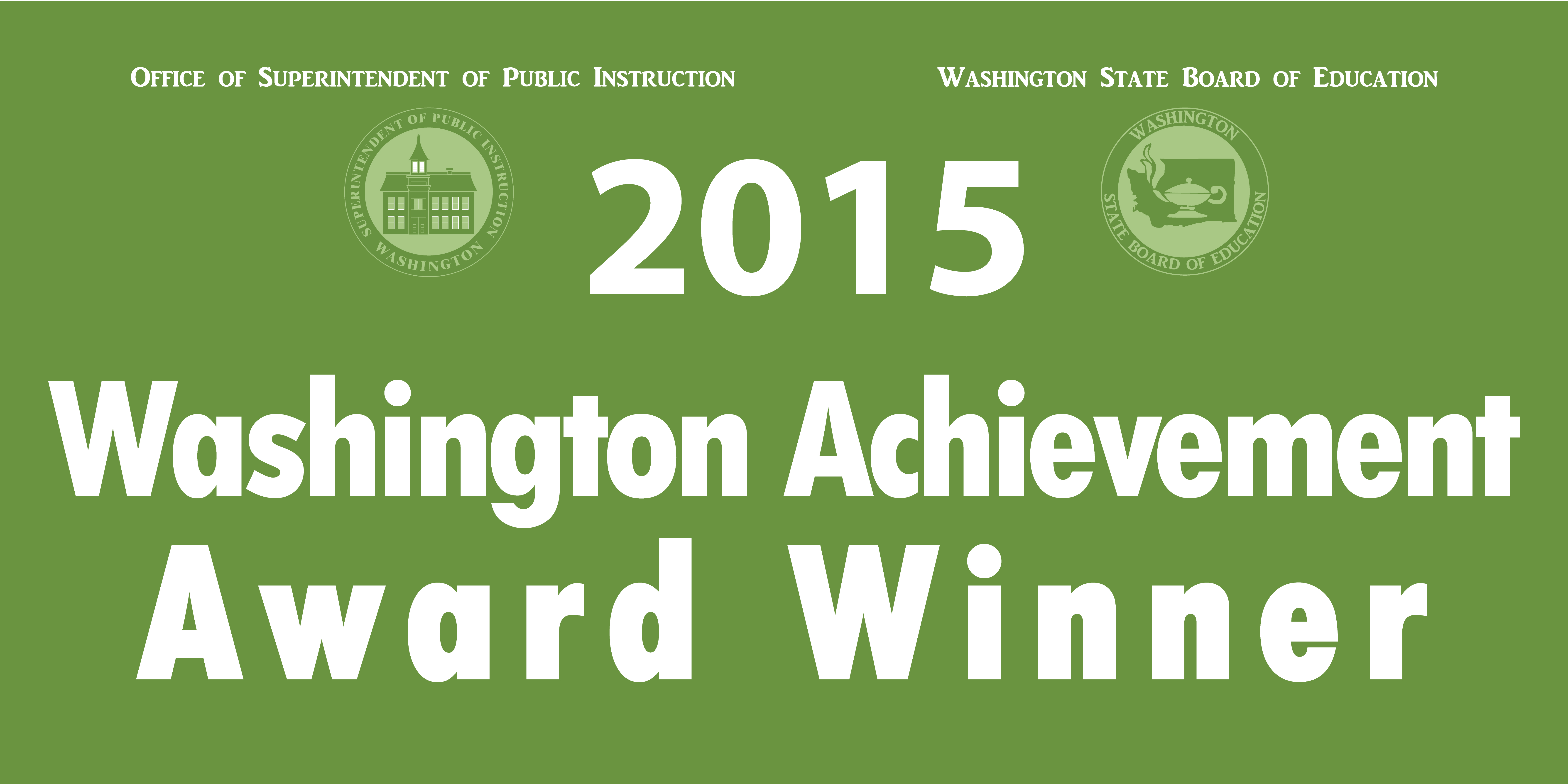 2015 Washington Achievement Award Winner