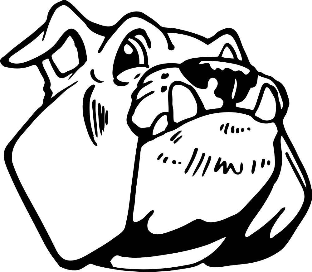 The face of a bulldog - Bell Elementary School's logo